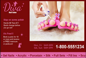 digital signage for nail salons